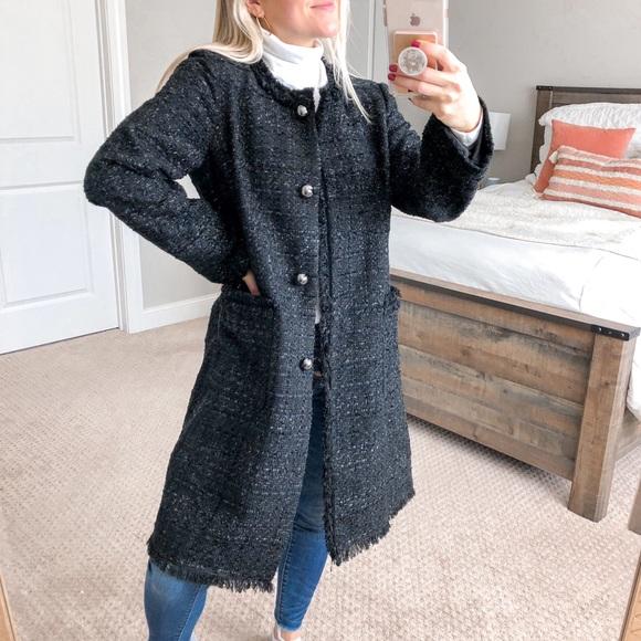 Kate Spade NY Sparkle Tweed Coat Dashing Beauty 8